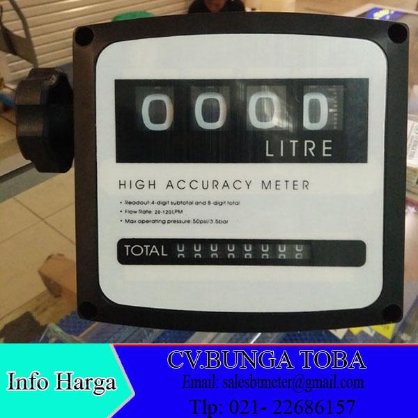 Jual flow meter solar high accuracy meter dn 25 mm 4 digit